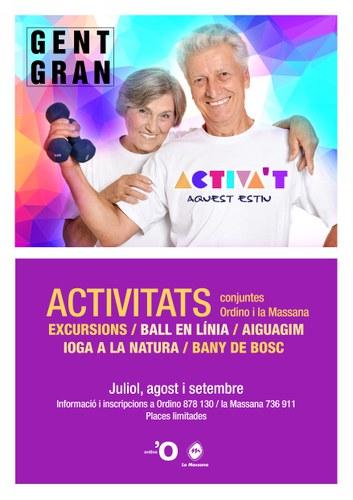 Activa't Aquest Estiu, activitats per a la gent gran