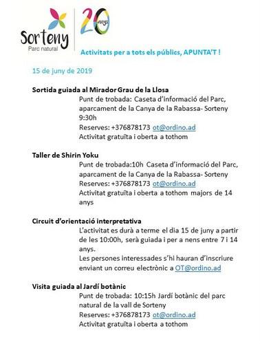 Celebració del 20è aniversari del Parc Natural de la Vall de Sorteny