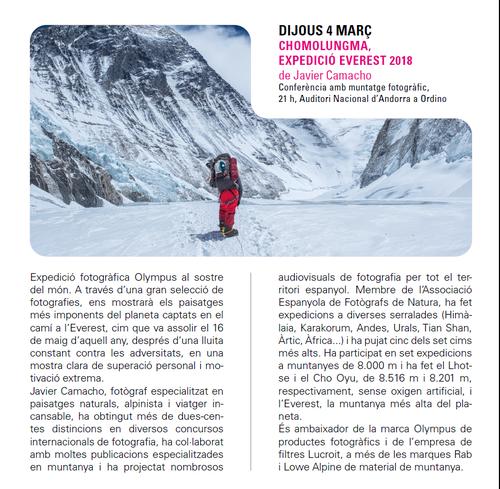 Chomolungma, Expedición Everest 2018 amb Javier Camacho