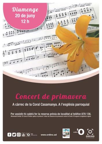 Concert de Primavera amb la Coral Casamanya