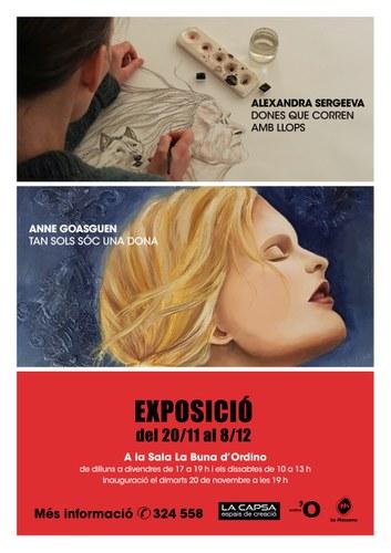 Exposició d'Alexandra Sergeeva i Anne Goasguen