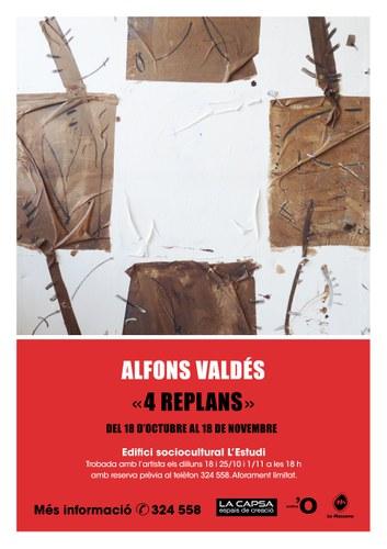 Exposició de pintura d'Alfons Valdés '4 replans'