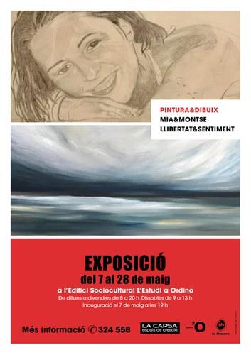 """Exposició 'Pintura&dibuix, Mia&Montse, llibertat&sentiment"""""""