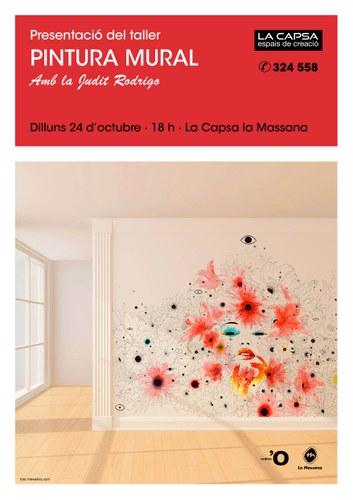 Presentació del taller de pintura mural