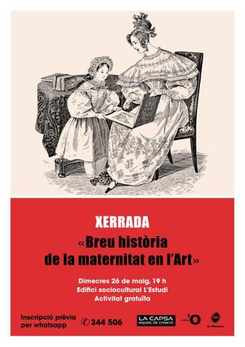 """Xerrada """"Breu història de la maternitat en l'Art"""""""