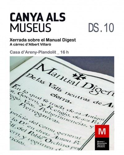 Xerrada sobre el Manual Digest, a càrrec d'Albert Villaró
