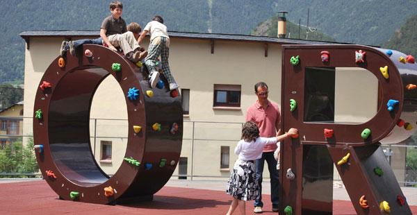 Rocòdrom infantil, Ordino