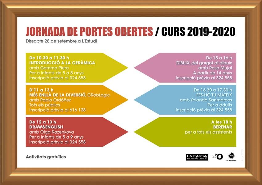 Jornada portes obertes La Capsa 2019-2020